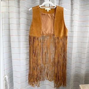 Anthropologie Staring At The Stars Leather Vest